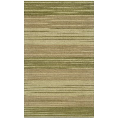 Jefferson Green Striped Area Rug Rug Size: 23 x 4