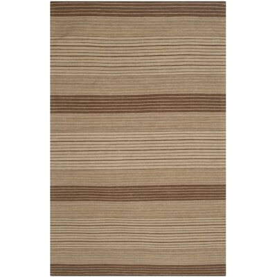 Jefferson Beige Striped Contemporary Area Rug Rug Size: Rectangle 6 x 9