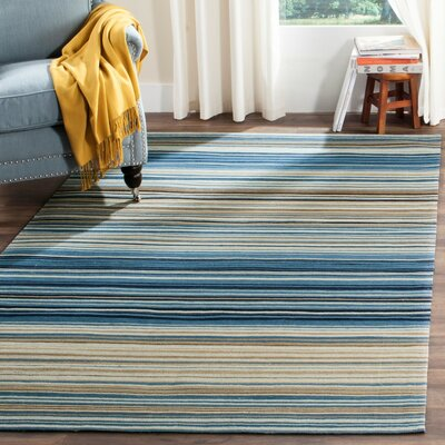 Jefferson Striped Contemporary Area Rug Rug Size: 3' x 5'