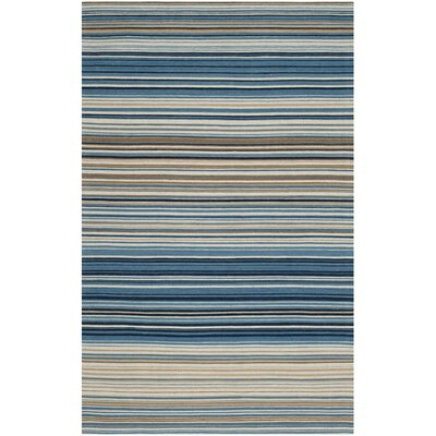 Jefferson Striped Contemporary Area Rug Rug Size: 4 x 6