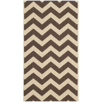 Jefferson Place Dark Brown Outdoor Area Rug Rug Size: 8 x 11
