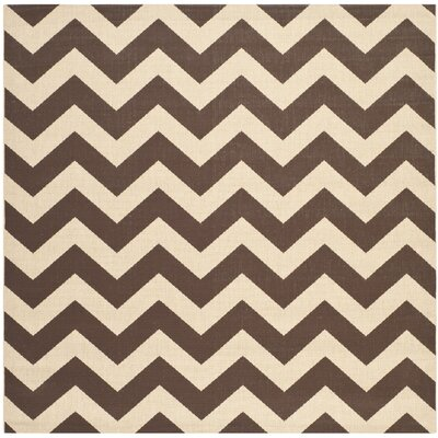Jefferson Place Dark Brown Outdoor Area Rug Rug Size: Square 53