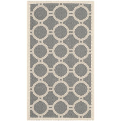 Jefferson Place Anthracite/Beige Indoor/Outdoor Area Rug Rug Size: Rectangle 2 x 37