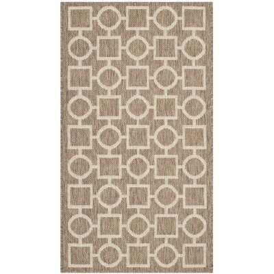 Jefferson Place Brown / Bone Outdoor Rug Rug Size: Runner 23 x 67
