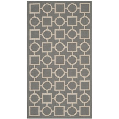 Jefferson Place Anthracite & Beige Outdoor Area Rug Rug Size: Rectangle 27 x 5