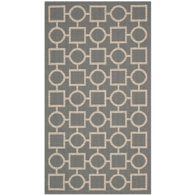 Jefferson Place Anthracite & Beige Outdoor Area Rug Rug Size: Rectangle 53 x 77