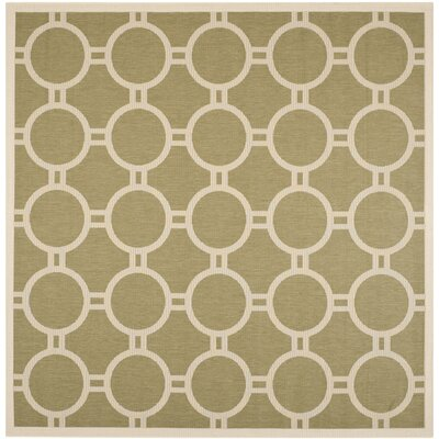 Jefferson Place Green/Beige Outdoor Rug Rug Size: Square 710