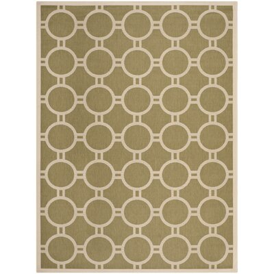 Jefferson Place Green/Beige Outdoor Rug Rug Size: Rectangle 53 x 77