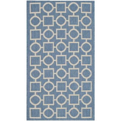 Jefferson Place Blue/Beige Outdoor Area Rug Rug Size: Rectangle 2' x 3'7