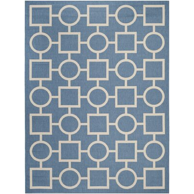 Jefferson Place Blue/Beige Outdoor Area Rug Rug Size: Rectangle 8 x 11