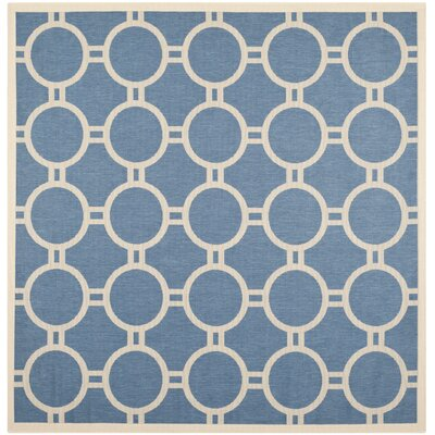 Jefferson Place Blue & Beige Outdoor Area Rug Rug Size: Square 710