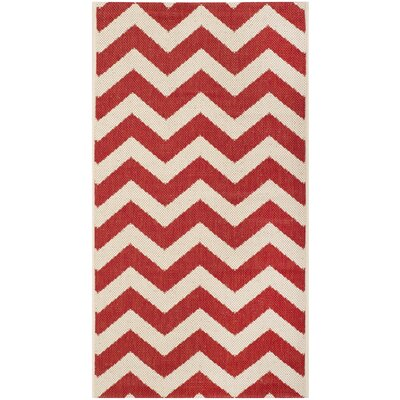 Jefferson Place Red Indoor/Outdoor Area Rug Rug Size: Rectangle 53 x 77