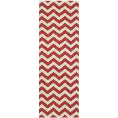 Jefferson Place Red Indoor/Outdoor Area Rug Rug Size: Runner 23 x 67