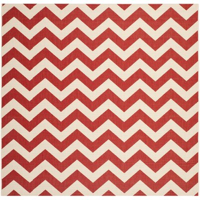 Jefferson Place Red Indoor/Outdoor Area Rug Rug Size: Square 4