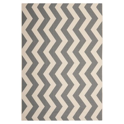 Jefferson Place Gray/Beige Rug Rug Size: 8 x 112
