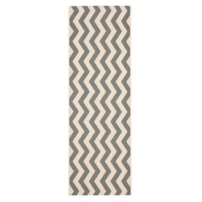 Jefferson Place Gray/Beige Indoor/Outdoor Area Rug Rug Size: Runner 24 x 67
