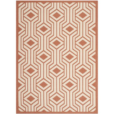 Jefferson Place Beige Indoor/Outdoor Area Rug Rug Size: 53 x 77