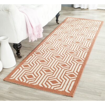 Jefferson Place Red/Beige Indoor/Outdoor Area Rug Rug Size: Runner 23 x 67