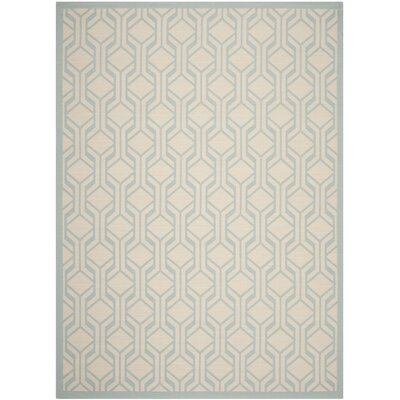 Jefferson Place Beige / Aqua Indoor/Outdoor Rug Rug Size: 8 x 11