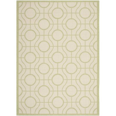 Jefferson Place Beige / Sweet Pea Indoor/Outdoor Rug Rug Size: Rectangle 53 x 77