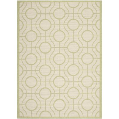 Jefferson Place Beige / Sweet Pea Indoor/Outdoor Rug Rug Size: Rectangle 67 x 96