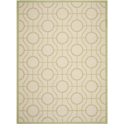 Jefferson Place Beige / Sweet Pea Indoor/Outdoor Rug Rug Size: 8 x 11