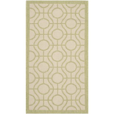 Jefferson Place Beige / Sweet Pea Indoor/Outdoor Rug Rug Size: Rectangle 2 x 37
