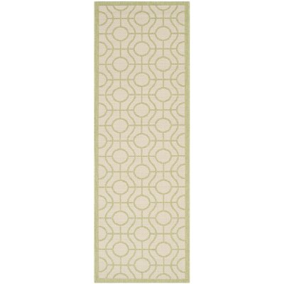 Jefferson Place Beige / Sweet Pea Indoor/Outdoor Rug Rug Size: Runner 23 x 67