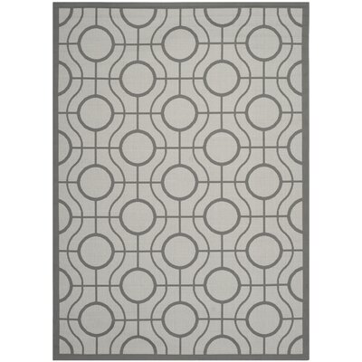 Jefferson Place Light Grey / Anthracite Indoor/Outdoor Rug Rug Size: 67 x 96