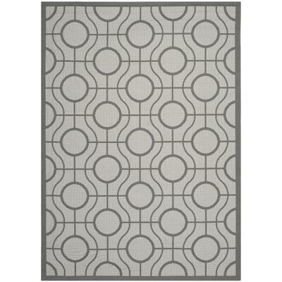 Jefferson Place Light Grey / Anthracite Indoor/Outdoor Rug Rug Size: Rectangle 8 x 11