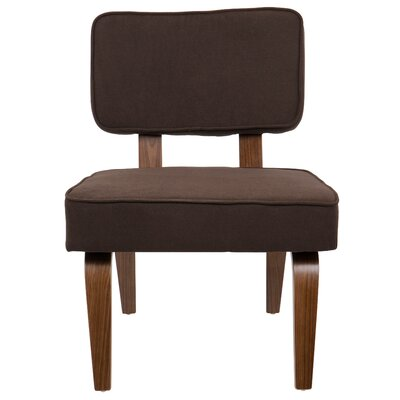 Jimison Slipper Chair Upholstery: Brown