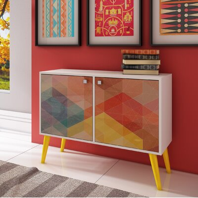O'Hare Accent Cabinet Finish: White/Yellow