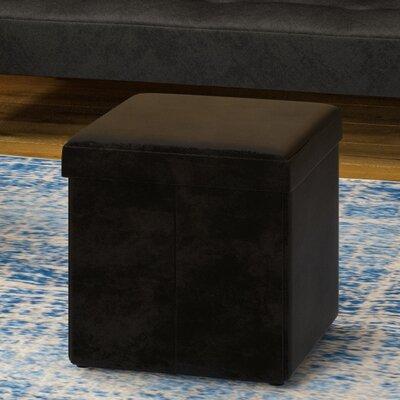 Aranda Cube Folding Ottoman Upholstery: Dark Brown