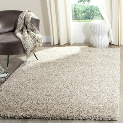 Chevalier Beige/White Area Rug Rug Size: Rectangle 8 x 10
