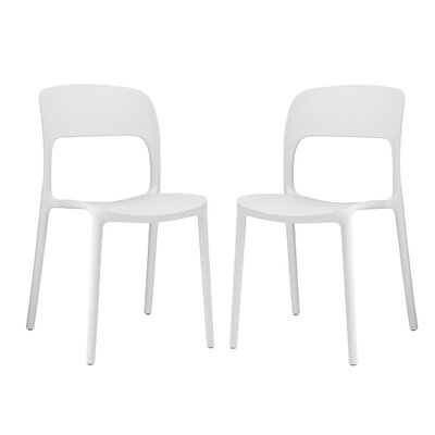 Bohr Side Chair Finish: White