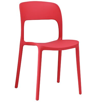Bohr Side Chair Finish: Red