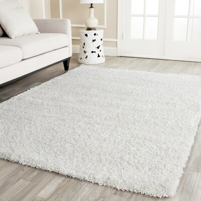 Holliday White Area Rug Rug Size: 53 x 76