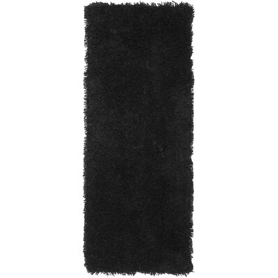 Starr Hill Solid Black Area Rug Rug Size: Runner 23 x 8