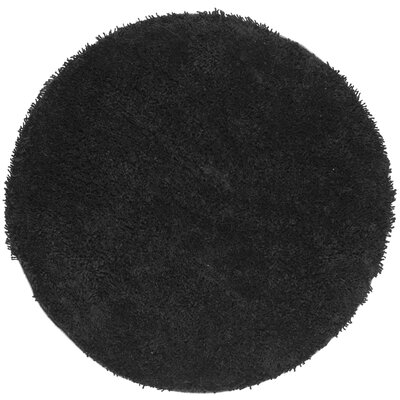 Holliday Solid Black Area Rug Rug Size: Rectangle 76 x 96