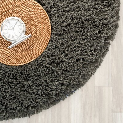 Holliday Charcoal Area Rug Rug Size: Round 4