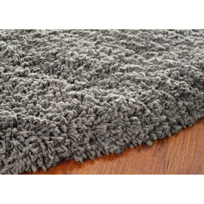Holliday Charcoal Area Rug Rug Size: Round 6