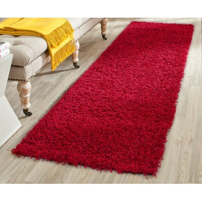 Holliday Red Area Rug Rug Size: Round 5