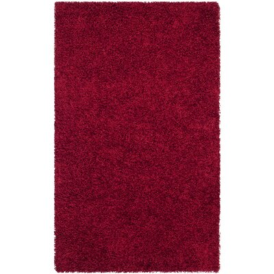 Holliday Red Area Rug Rug Size: 2 x 3