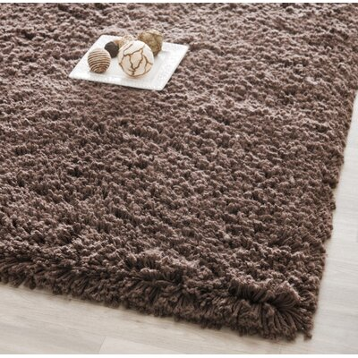 Boice Chocolate Area Rug Rug Size: 5 x 8