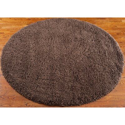 Starr Hill Chocolate Area Rug Rug Size: Round 6