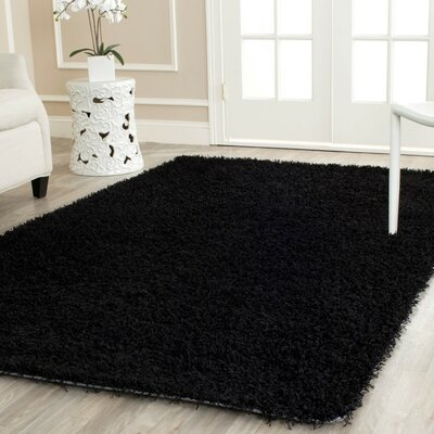 Holliday Black Area Rug Rug Size: Round 5