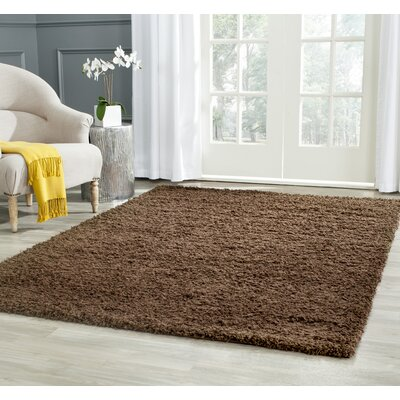 Boice Brown Area Rug Rug Size: 51 x 76
