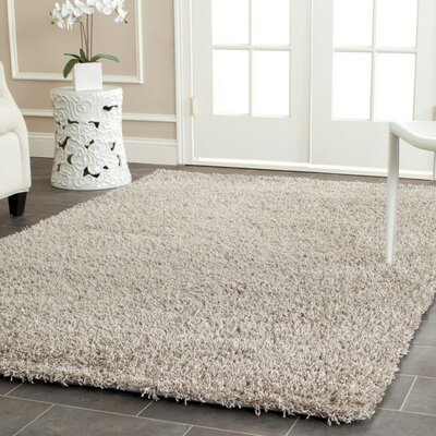 Holliday Silver Area Rug Rug Size: 4 x 6