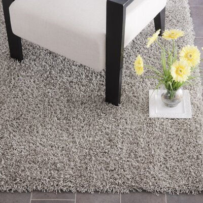 Holliday Silver Area Rug Rug Size: 5 x 8