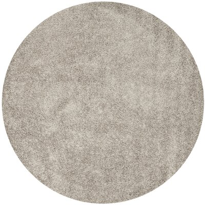 Holliday Silver Area Rug Rug Size: Round 7